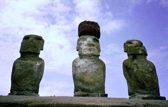 世界遺産,ラパ・ヌイ,イースター島 ラパ・ヌイ国立公園■ラパ・ヌイ(イースター島)のモアイ像■